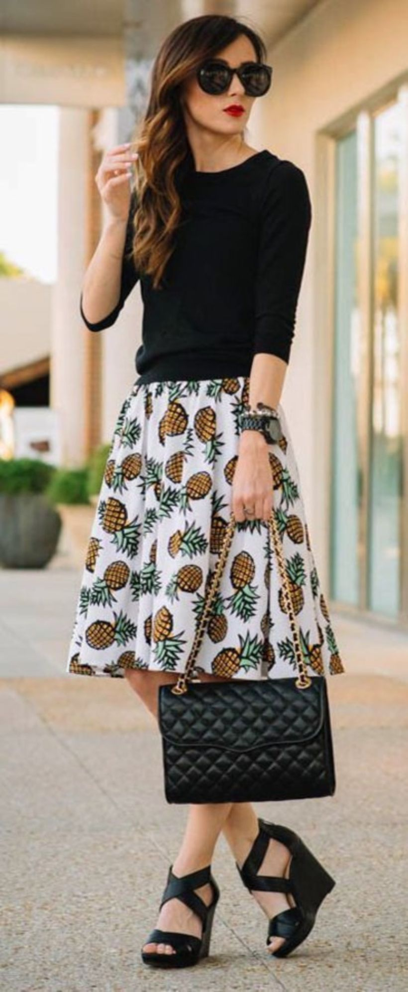 Fashionable skirt outfits ideas that you must try 45