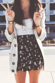 Fashionable skirt outfits ideas that you must try 46