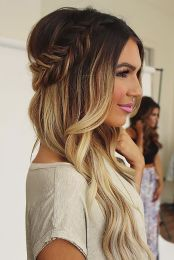 Gorgeous rustic wedding hairstyles ideas 80