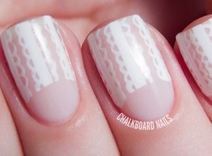 Inspiring half moon nails art to copy featured