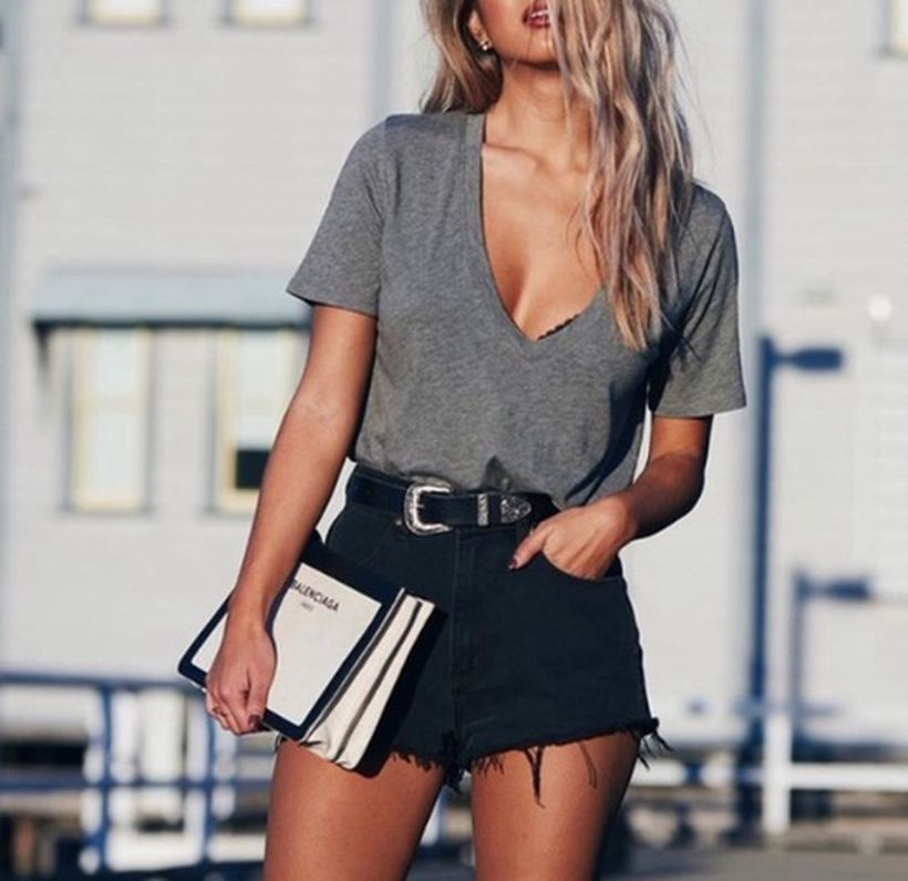 Inspiring simple casual street style outfits ideas 30
