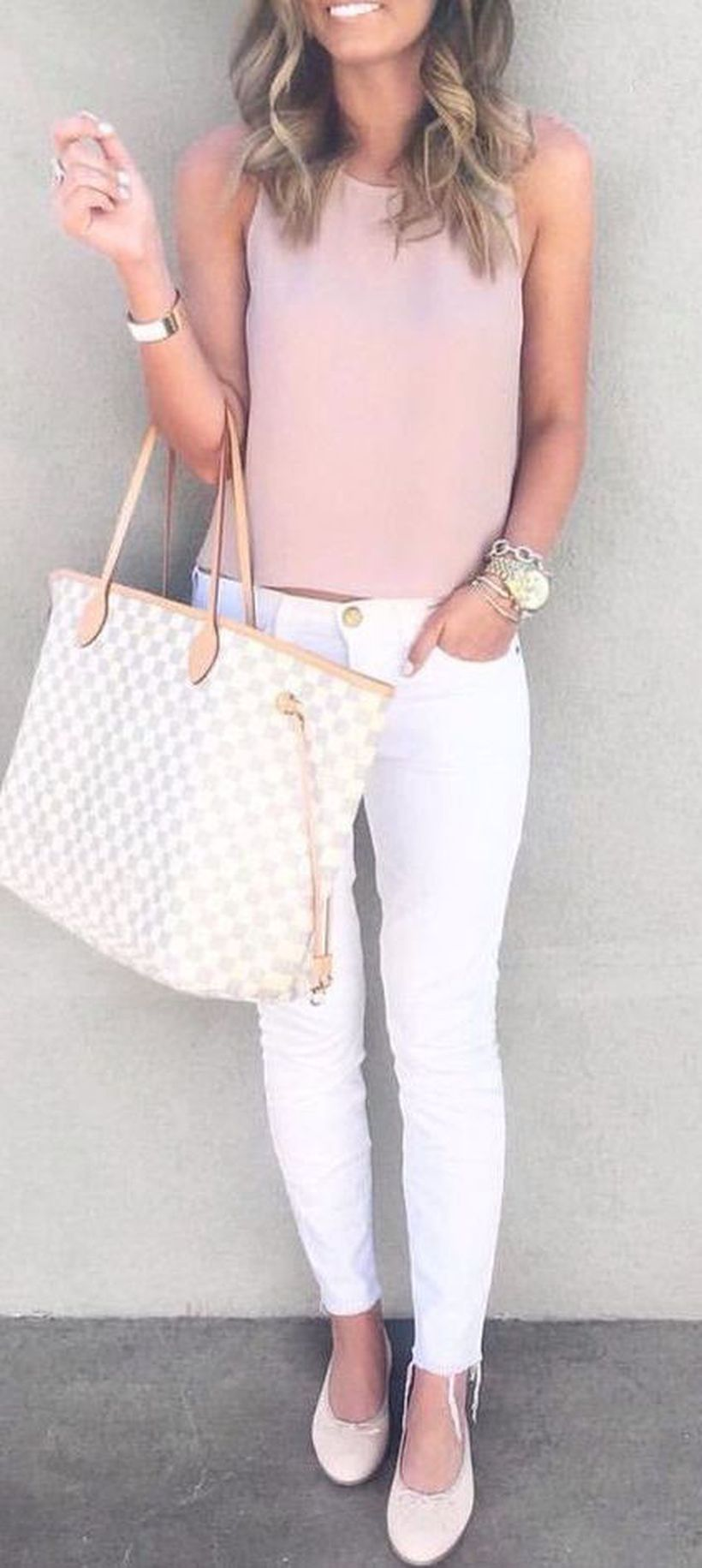 Perfect ways to wear white denim jeans outfits 42