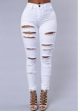 Perfect ways to wear white denim jeans outfits 64