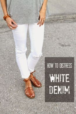 Perfect ways to wear white denim jeans outfits 76