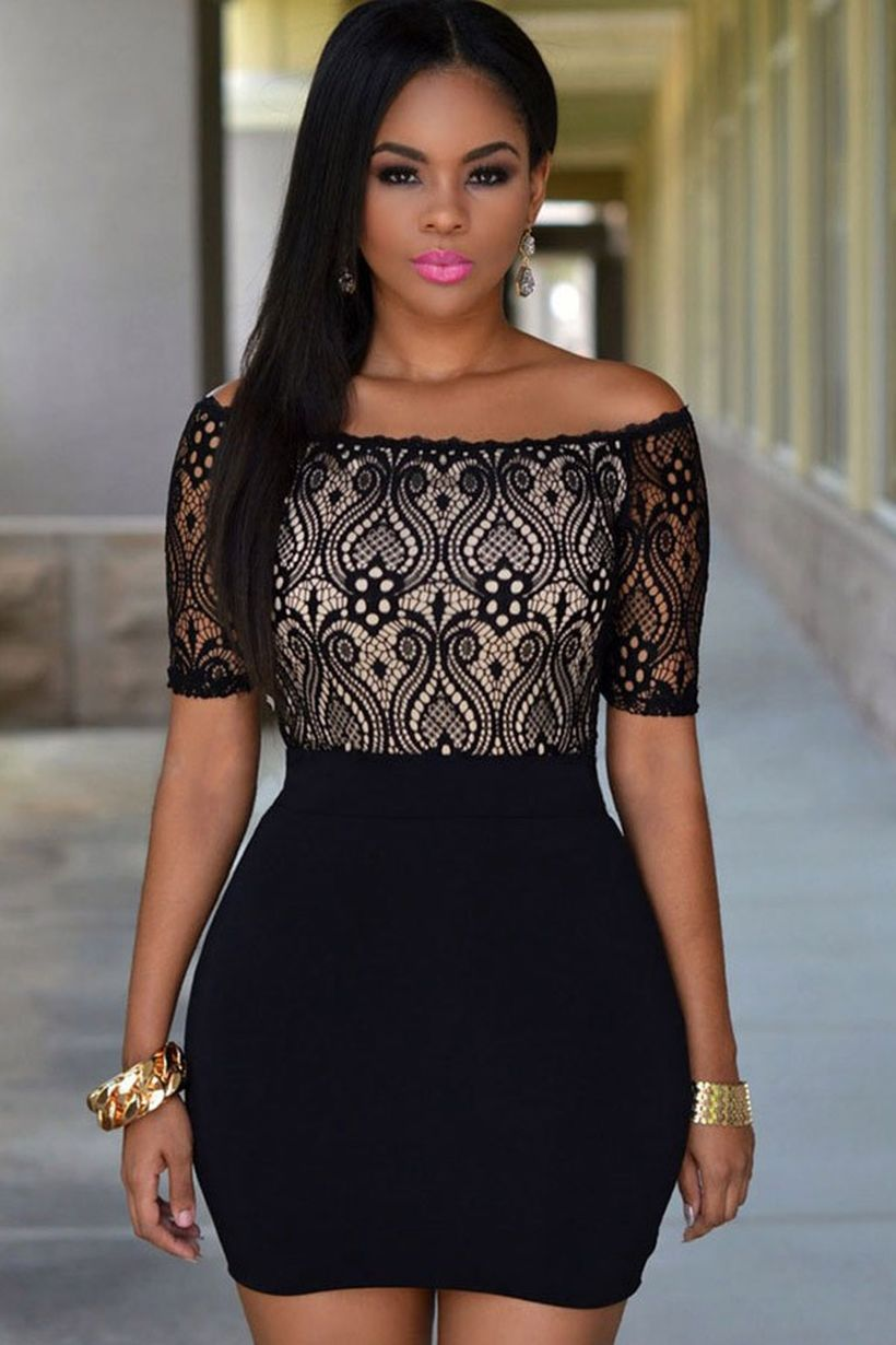 Stunning black short dresses outfits for party ideas 34