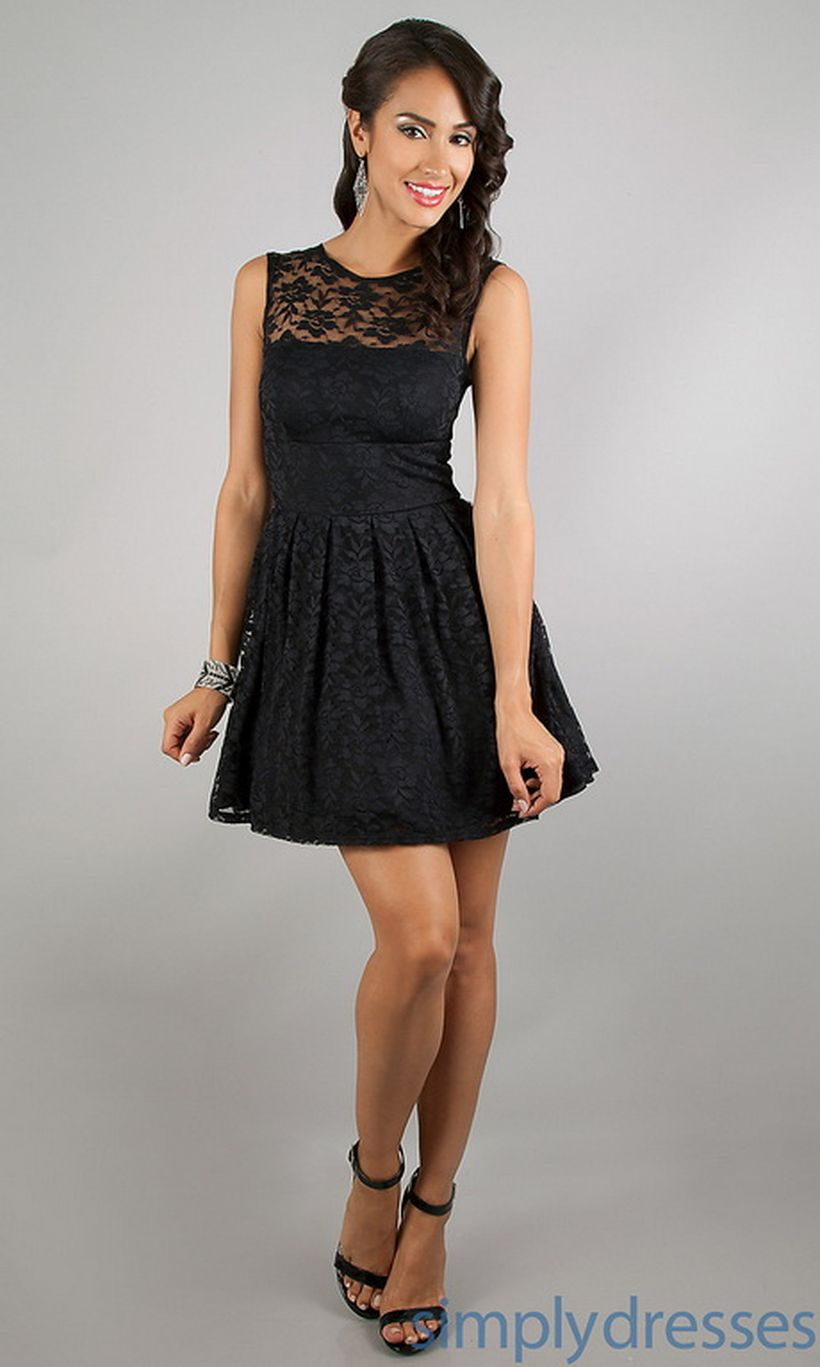 Stunning black short dresses outfits for party ideas 48