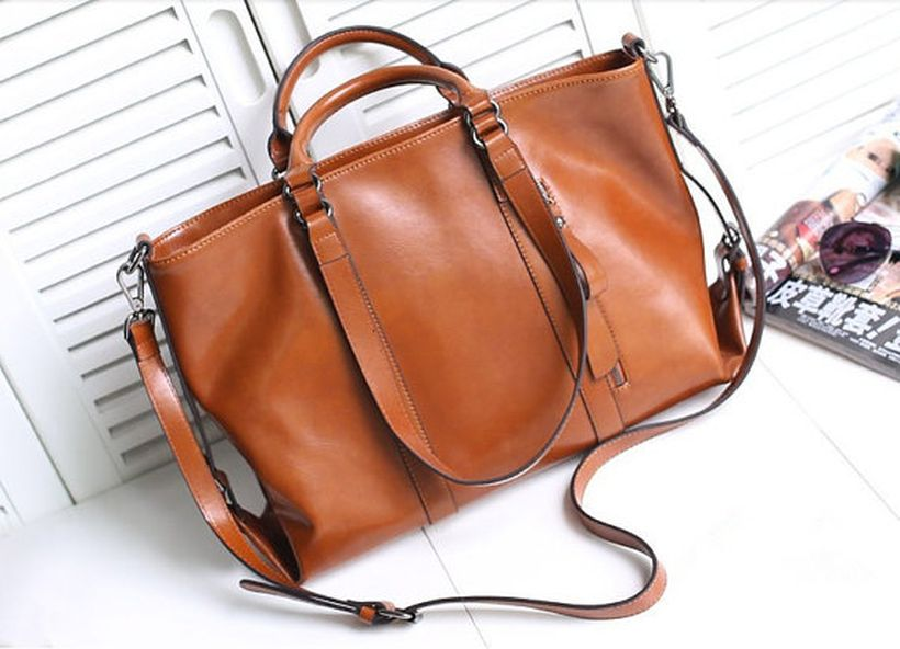Stylish leather tote bags for work 102