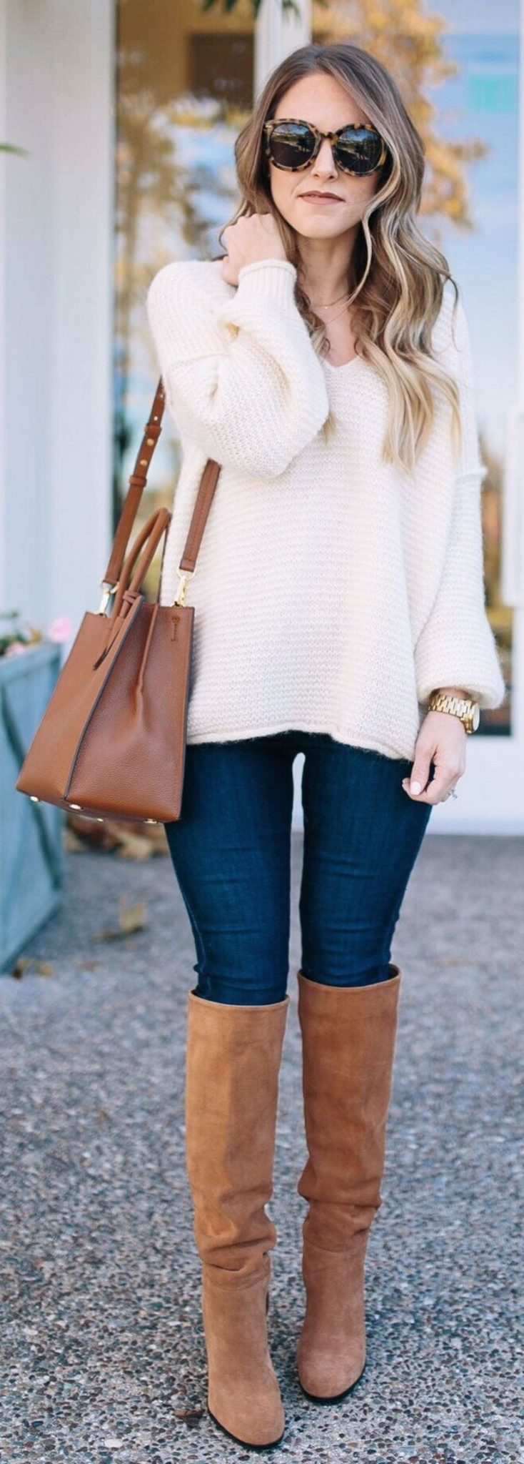 Stylish leather tote bags for work 13