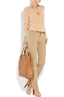 Stylish leather tote bags for work 17