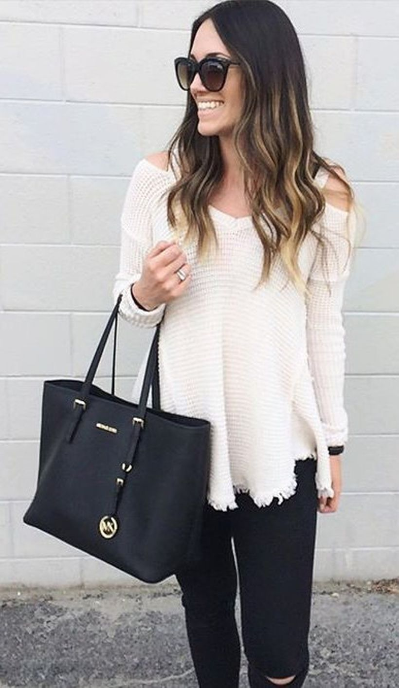 Stylish leather tote bags for work 65