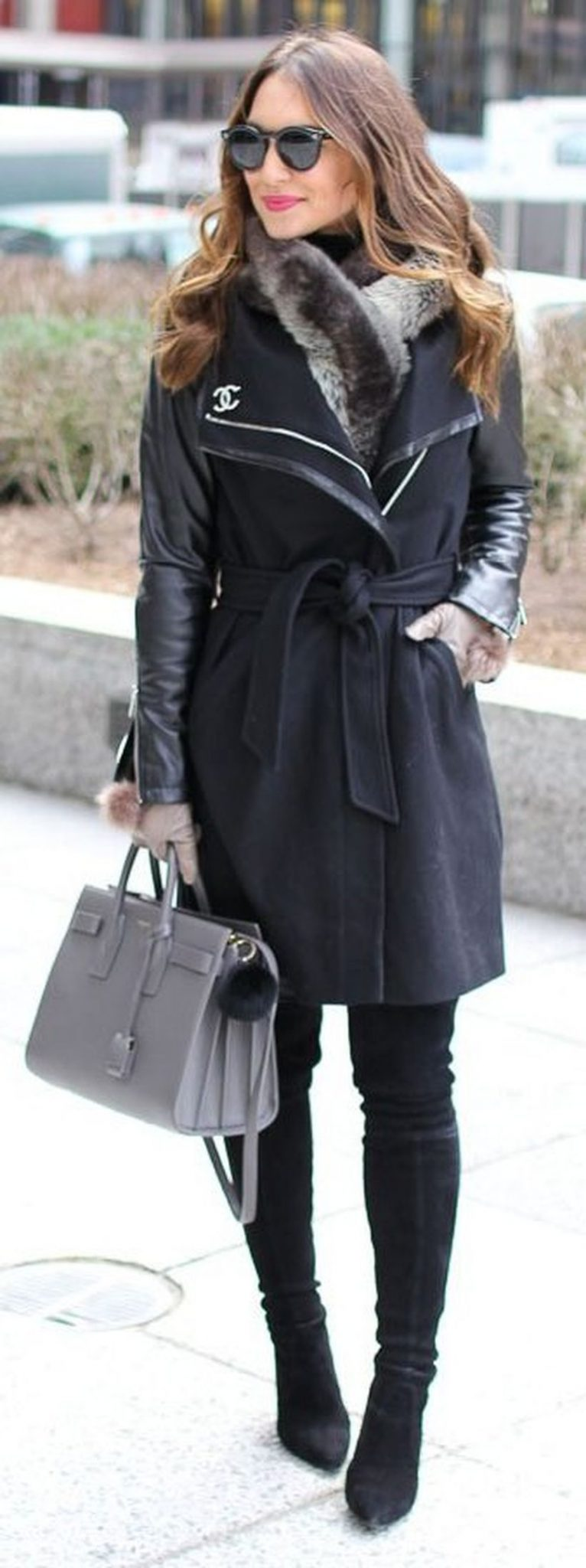 Stylish leather tote bags for work 7