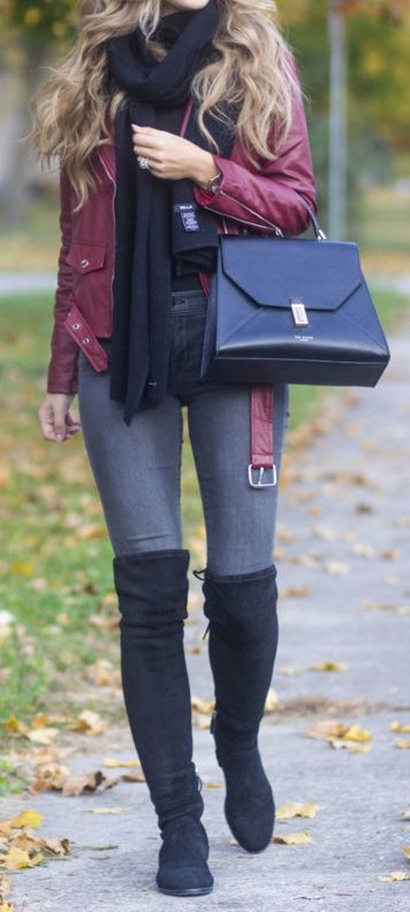 Stylish leather tote bags for work 78