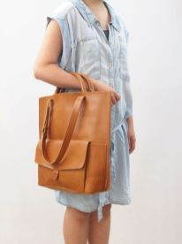 Stylish leather tote bags for work 80