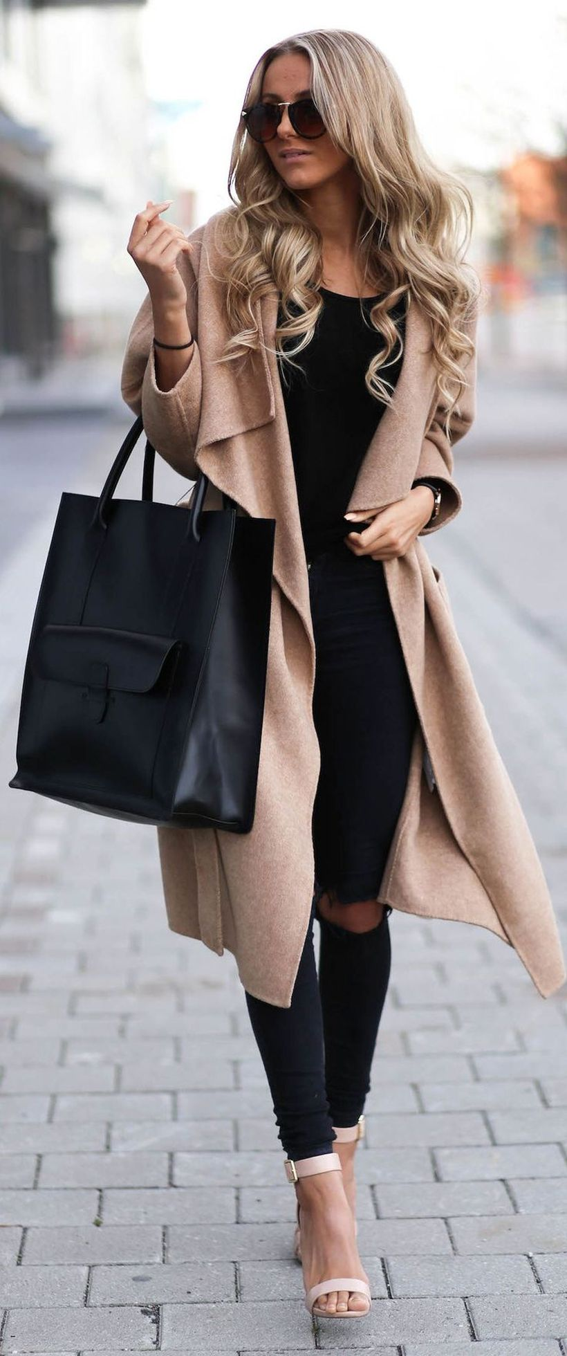 Stylish leather tote bags for work 90