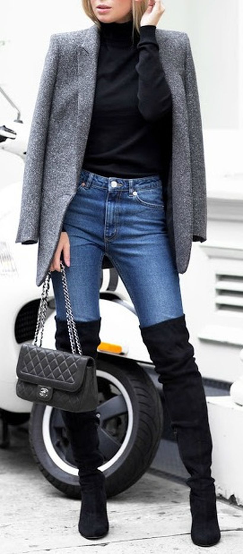 Trendy over the knee boots for winter and fall outfits 22
