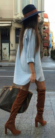 Trendy over the knee boots for winter and fall outfits 33