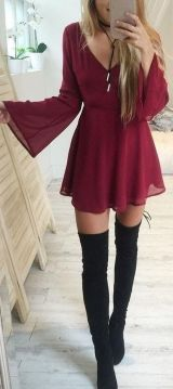 Trendy over the knee boots for winter and fall outfits 37