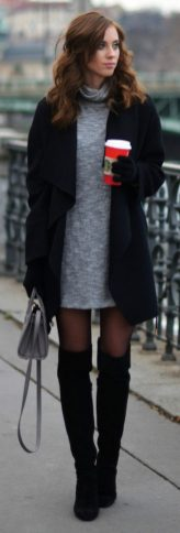 Trendy over the knee boots for winter and fall outfits 6