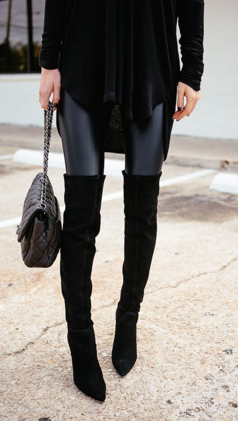 Trendy over the knee boots for winter and fall outfits 69