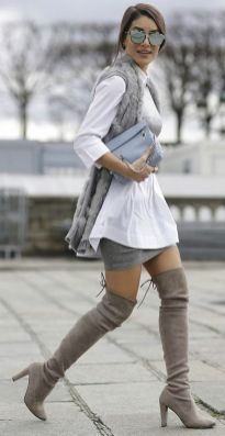 Trendy over the knee boots for winter and fall outfits 72