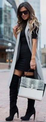 Trendy over the knee boots for winter and fall outfits 75