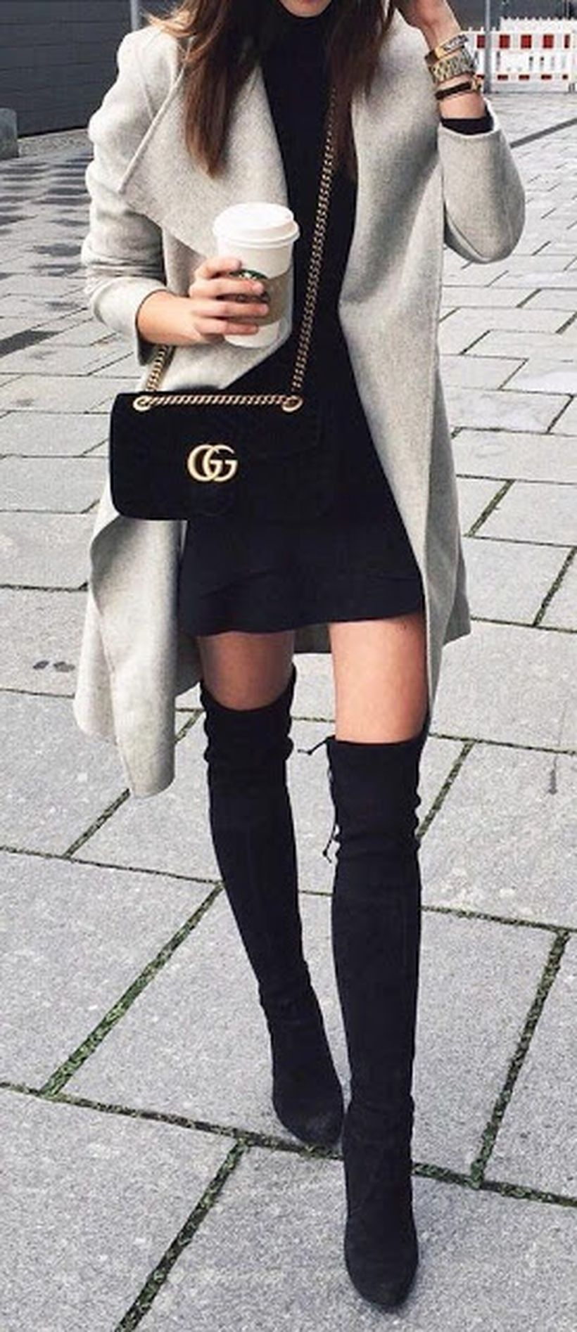 Trendy over the knee boots for winter and fall outfits 8