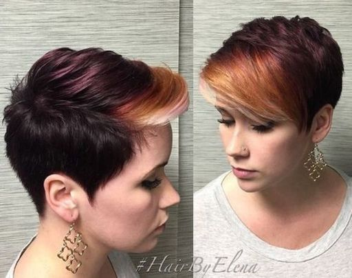 Cool short pixie ombre hairstyle ideas 10