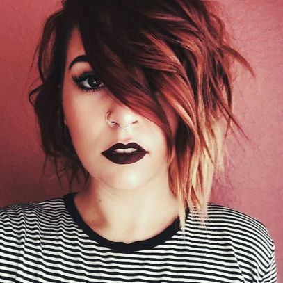 Cool short pixie ombre hairstyle ideas 12