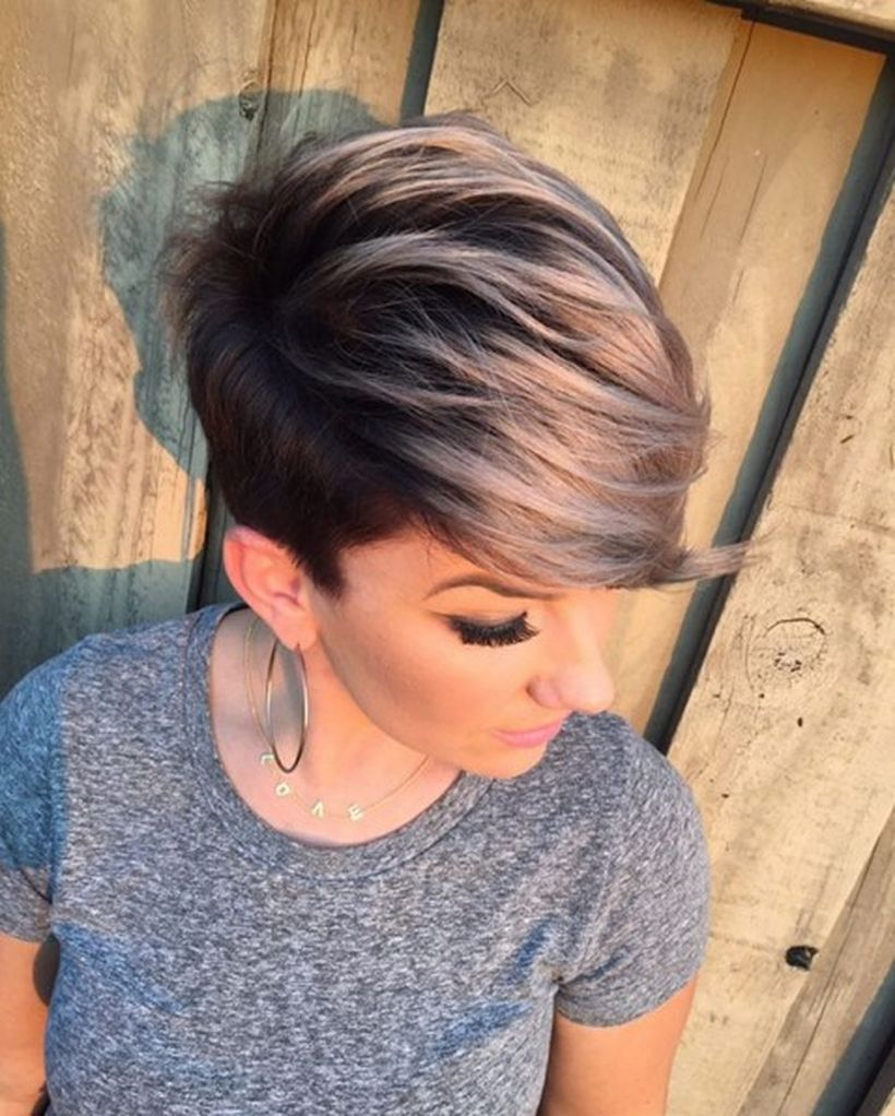 Cool short pixie ombre hairstyle ideas 28