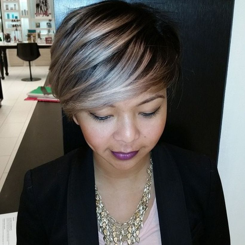 Cool short pixie ombre hairstyle ideas 29