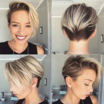 Cool short pixie ombre hairstyle ideas 3