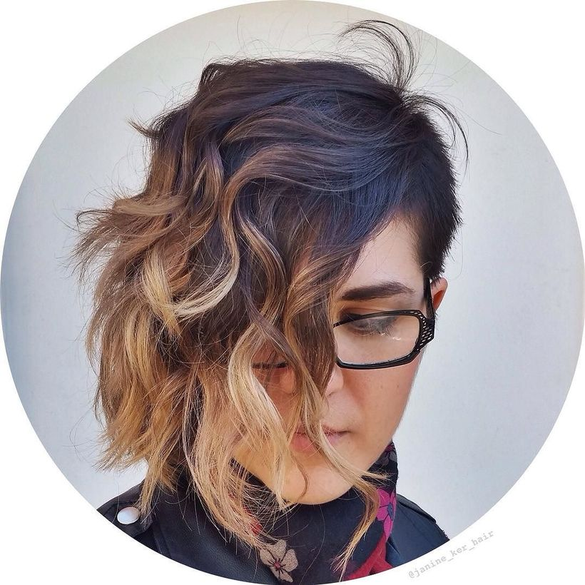 Cool short pixie ombre hairstyle ideas 30