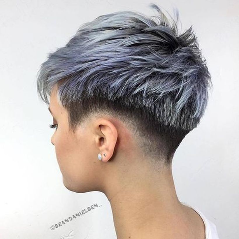 Cool short pixie ombre hairstyle ideas 7