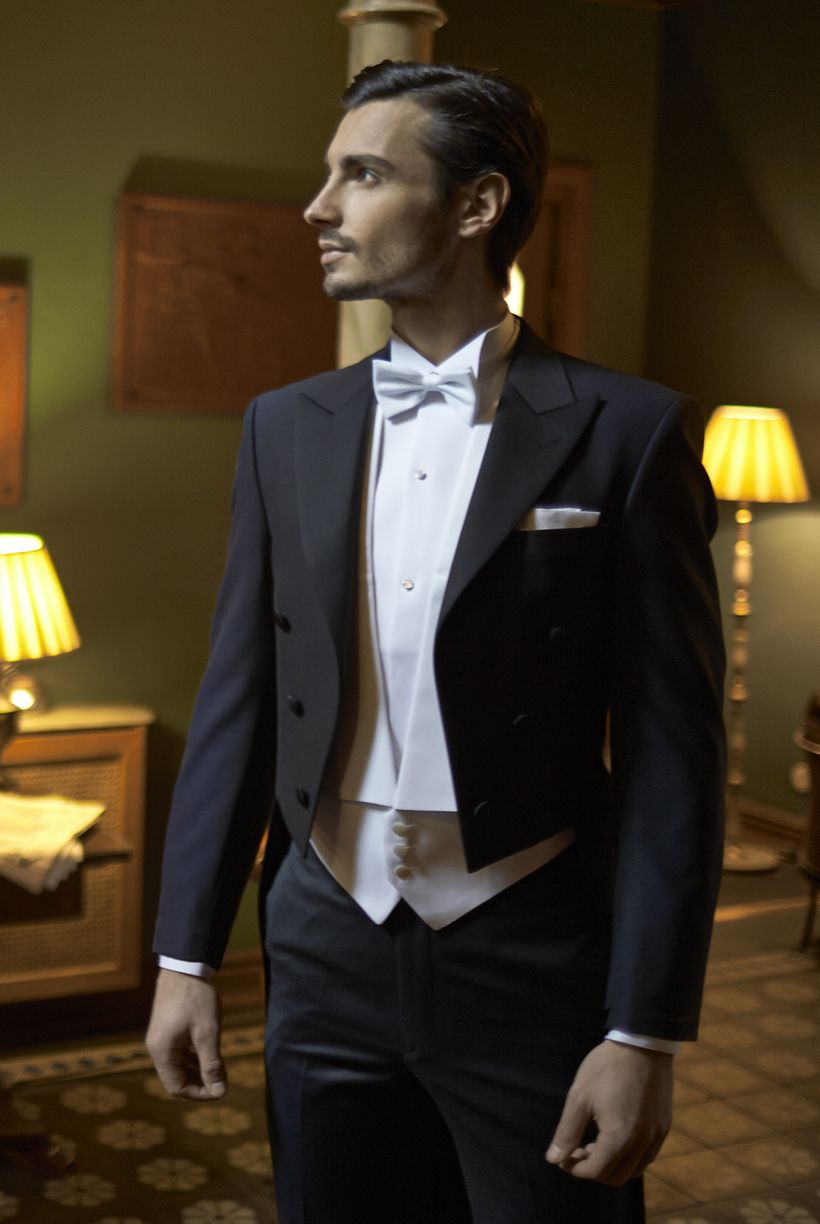 Elegant men's formal wear with tuxedo and suits 124
