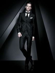 Elegant men's formal wear with tuxedo and suits 49
