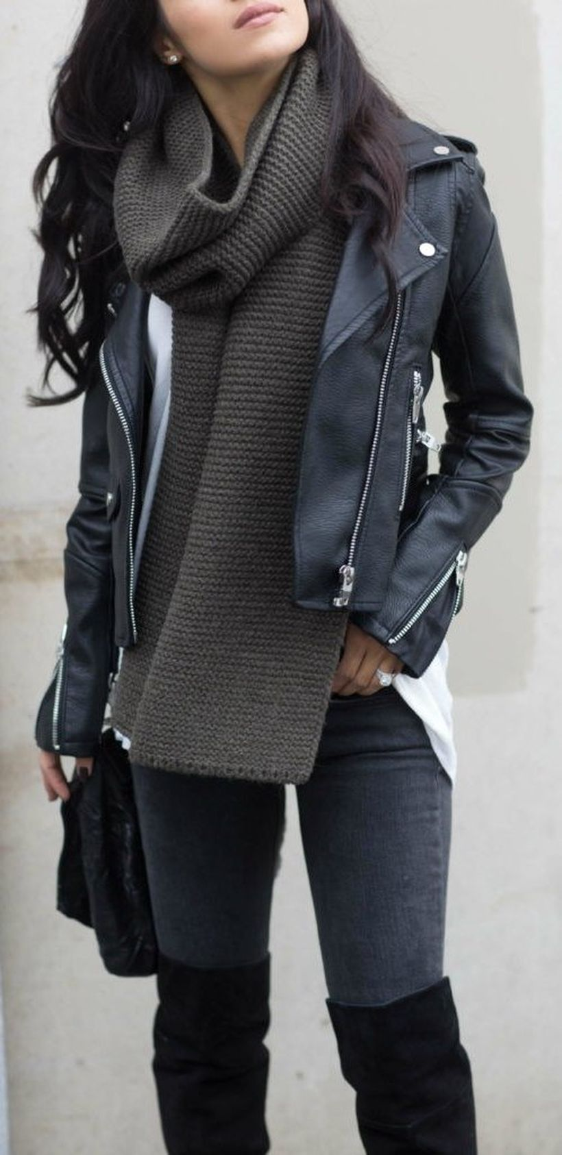 Fashionable outfit style for winter 2017 75
