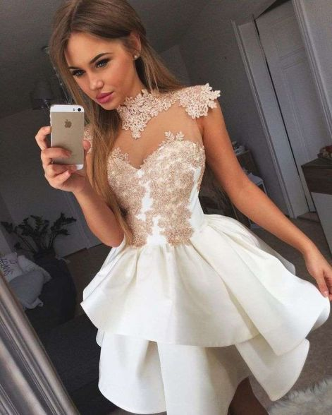 Most cute short white dresses outfits design ideas 11