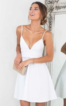 Most cute short white dresses outfits design ideas 42