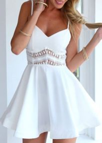 Most cute short white dresses outfits design ideas 53