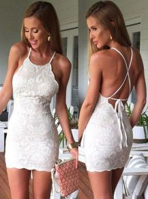 Most cute short white dresses outfits design ideas 74