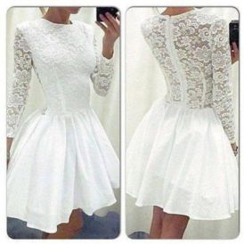 Most cute short white dresses outfits design ideas 78