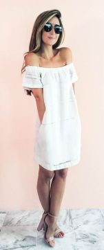 Most cute short white dresses outfits design ideas 82