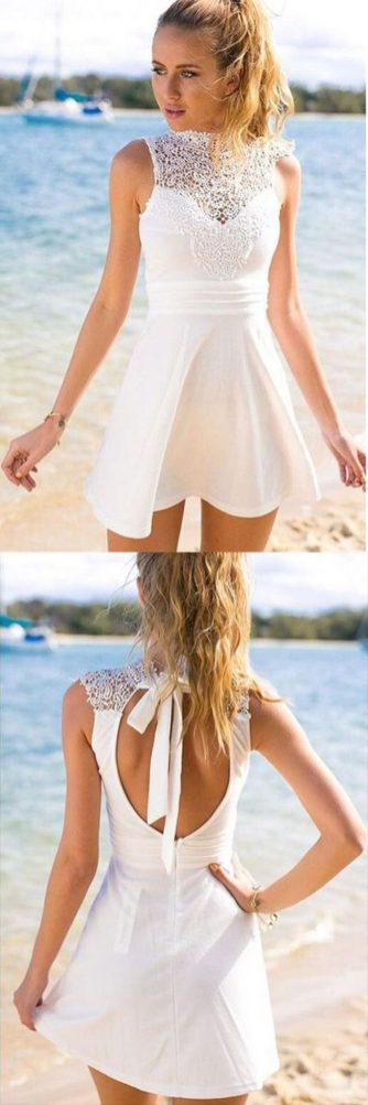 Most cute short white dresses outfits design ideas 89
