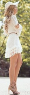 Most cute short white dresses outfits design ideas 9