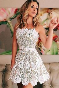 Most cute short white dresses outfits design ideas 92