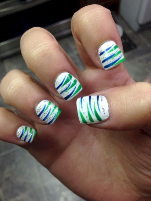 Seahawks nails design 04