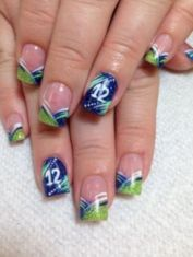 Seahawks nails design 05