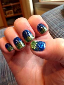 Seahawks nails design 12