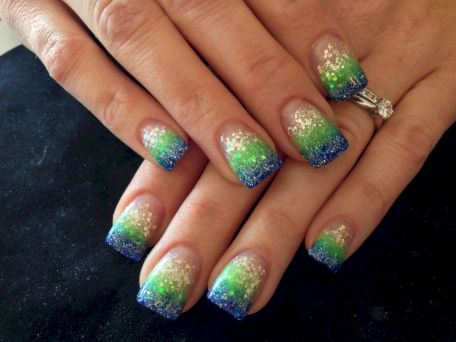 Seahawks nails design 25