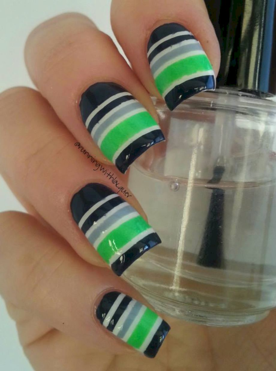 Seahawks nails design 37
